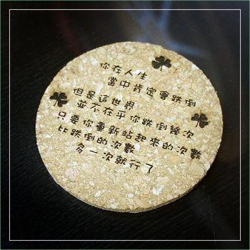 原木杯墊、環保筷組雕刻
